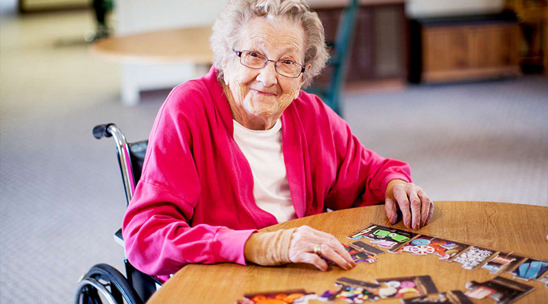 Resident in our long term dementia care