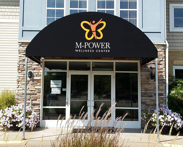 The M-Power Wellness Center— We have an indoor heated pool, full gym, Studio of Arts room, Yoga Studio, and group fitness studio.