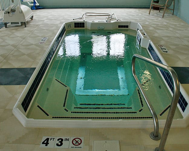 The Hydroworx therapy pool is one of only a few open to the public in the state.