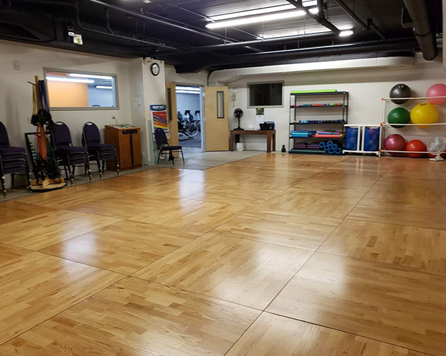 Group Fitness Studio. Improve muscle strength, cardio endurance, and joint flexibility with aerobics. We offer Yoga, Tai Chi, and Zumba classes. Individual or small groups work with our trainers and coaches to set goals and create workout and nutrition plans.