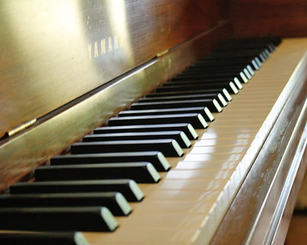 A piano is available for talented maestros or the curious.